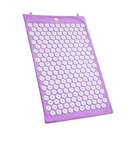 Bed of Nails Active Acupressure Mat for Pain and Relaxation Lavender
