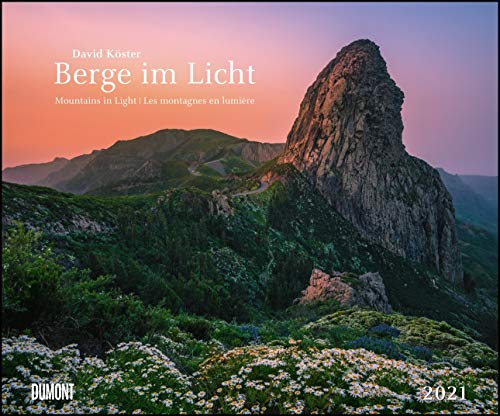 Berge im Licht 2021 – Wandkalender 58,4 x 48,5 cm – Spiralbindung