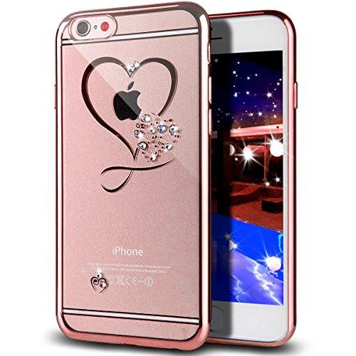 Custodia iPhone 6S Plus,Custodia iPhone 6 Plus,Custodia Cover per iPhone 6/6S Plus,Placcatura in oro rosa Lucido di cris Plus (5,5'),Cover iPhone 6S Plus,Cover iPhone 6 Plus,Oro rosa Cuore Mini Amore