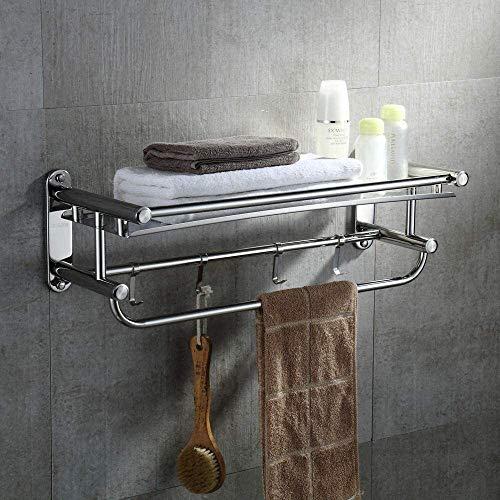 Badkamer Handdoek Rack Houder For Keuken Badkamer Shelf 304 Roestvrij Staal Handdoekrek Handdoekrek Badkamer Plank Licht In De Badkamer