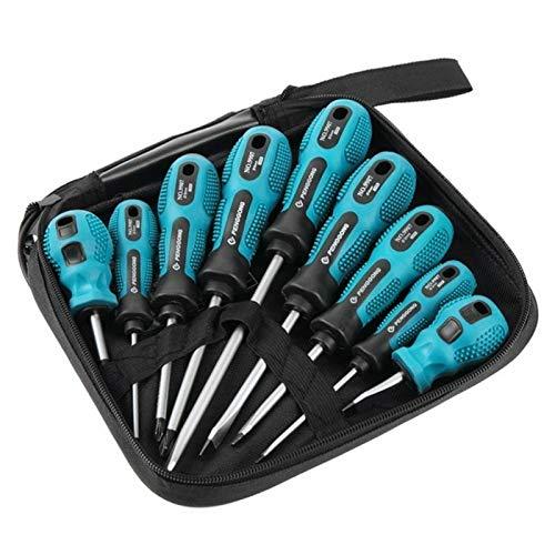 Para herramientas de jardinería NZX Multi-bit Herramientas Repair Torx Tornillo Kit (Destornillador de manija verde 9pcs) (Color : Green Handle Screwdriver 9PCS)