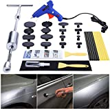 GLISTON Car Dent Remover Tool, Paintless Dent Repair Kit, Pro Slide Hammer Tools with 16pcs Thickened Black Tabs for DIY Automobile Body Dent Removal