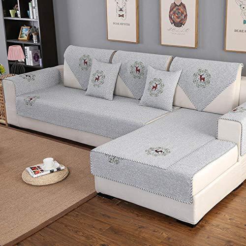 KENEL Multifunción Funda de sofá, Funda de sofá Antideslizante para sofá, Tela Jacquard, Protector de Muebles para Perros,Cuatro Temporadas Cubierta Protectora de Muebles universales (Solo 1 Pieza /