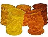 kadoh Papierlampions Set of 5 rot-orange (L) Deko Laterne Papierlampion Herbst Halloween