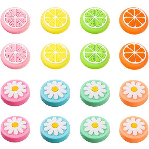 16 Piezas Tapa de Joystick Agarre de Pulgar con Deseño de Fruta...