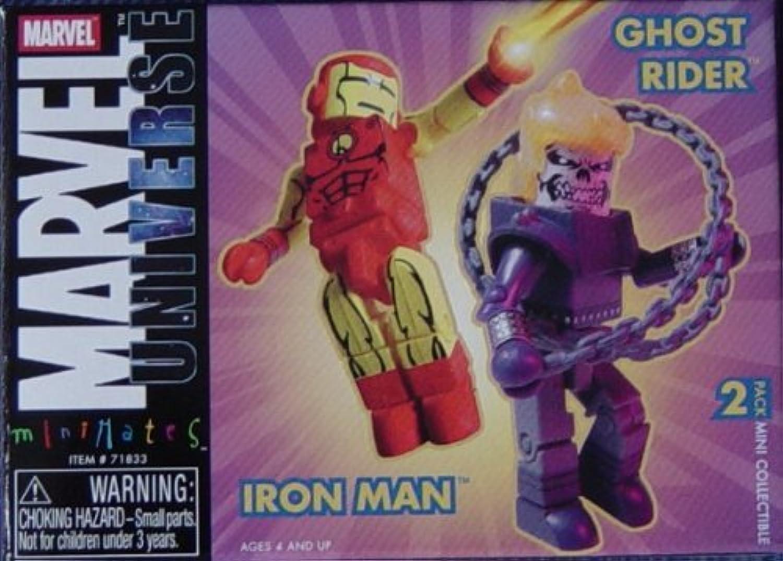 Marvel Minimates Iron Man and Ghost Rider Figure 2pack  RARE by TexasToysandComics