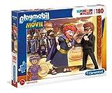 Clementoni- Playmobil - Puzzle (180 Piezas, para niños a Partir de 7 años), Color Multicolor. (29162)
