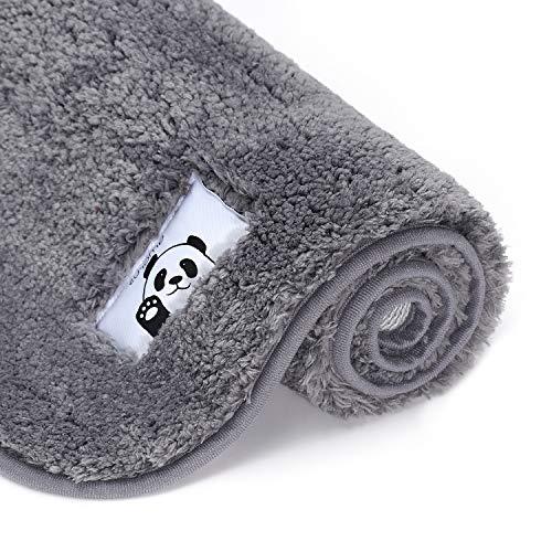"amorus Bath Mat Bathroom Rugs, Soft Shaggy Microfiber Shower Rug, Absorbent Plush Bathroom Shower Rugs, Non Slip Floor Mats Runner Carpet Machine Washable (32"" x 20"")"