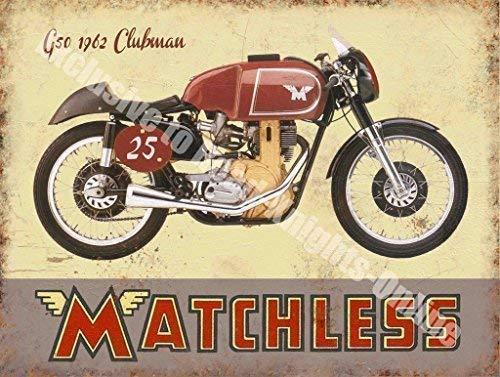 RKO Matchless G50 Clubman Motorrad Vintage Garage Metall Wand Schild - 30 x 40 cm