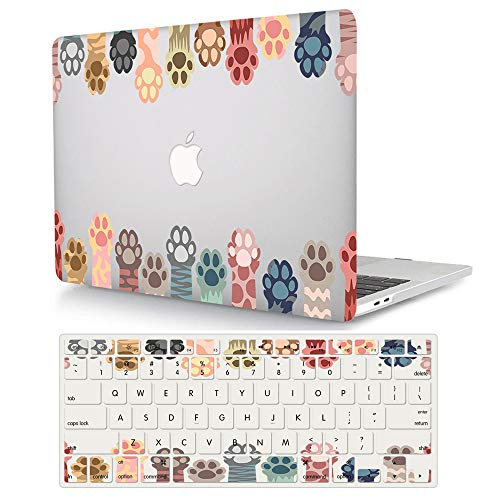 ACJYX Hard Case Compatible with MacBook Pro 16 Inch A2141 Release 2020 2019, Plastic Hard Shell Case with Keyboard Cover for Mac Pro 16'' with Touch Bar & Touch ID - Cat paw