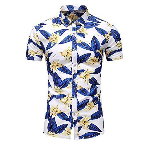 Chemise Hawaïenne   Hommes   S - 7XL   Manche-Courte   Turndown Collar   Boutons   Hawaiian-Imprimer   Doux, Respirant   Fête Plage Vacances Chemise pour Tout âge des Hommes