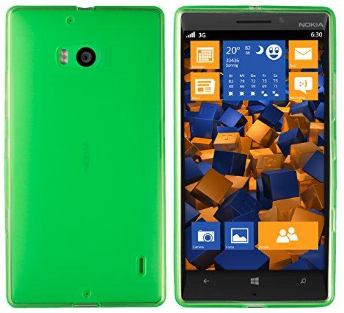 mumbi Hülle kompatibel mit Nokia Lumia 930 Handy Case Handyhülle, transparent grün