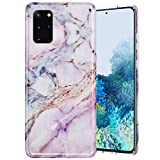Caka Case for Galaxy S20 Plus Marble Case Slim Soft Flexible Protective Shockproof Fashion Luxury for Women Girls Pink Marble Phone Case for Galaxy S20 Plus 5G (Pink)