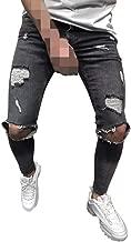 iZHH Men's New Personal Zipper Pocket Drawstring Elastic Small-Foot Sports Pants Pure Color Pant