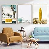 impresiones de fotos sobre Lienzo Surf de California Impresiones Sobre Lienzo Cuadros Decorativos para Decoración de Salón y Dormitorio Sin marco 3 piezas 50x70 cm
