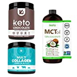 KEPPI X3 Health Bundle - MCT Oil, Exogenous Ketones and Multi Collagen Protein Powder