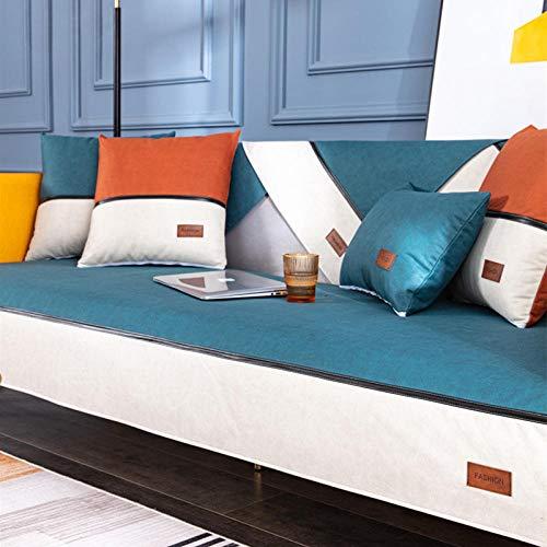 Sofa Fundas de sillones Cojín de sofá Azul, Impermeable para Todas Las Estaciones, Funda de sofá de Color sólido para Asientos de Sala de Estar 70 * 150 CM