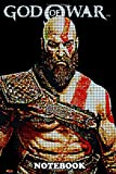 Notebook: Pixels Kratos , Journal for Writing, College Ruled Size 6' x 9', 110 Pages