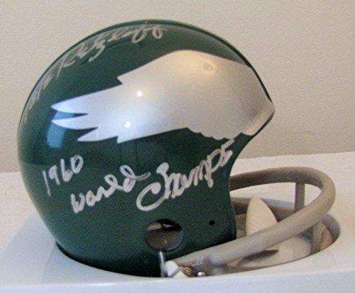Pete Retzlaff 2 Bar Throwback Philadelphia Eagles Autographed Mini Helmet With 1960 World Champs Inscription