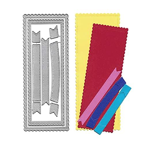 ShiftX4 Troqueles de corte, marco de encaje, juego de fondos de acero al carbono, troqueles de corte para álbumes de fotos, álbumes de recortes, tarjetas de papel para hacer plantillas de decoración