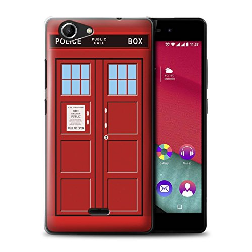 Hülle Für Wiko Pulp Fab 4G Tardis Telefonzelle Kunst Rot Design Transparent Ultra Dünn Klar Hart Schutz Handyhülle Case