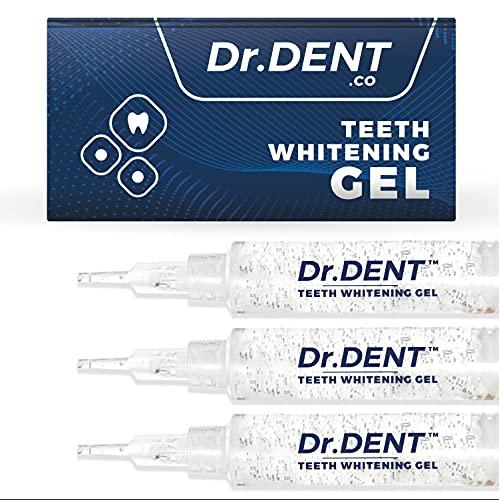 DrDent Premium Teeth Whitening Gels Non-Sensitive | (3) 5ml Whiten Gels - Removes Stains - Enamel Safe - Rapid & Effective Results -