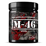 M-46 Pre Workout and Nitric Oxide Pump Powder Drink - Vegan Formula with Creatine Malate, Beta-Alanine, L-tyrosine, Caffeine for Gym Muscle Performance 250 Grams