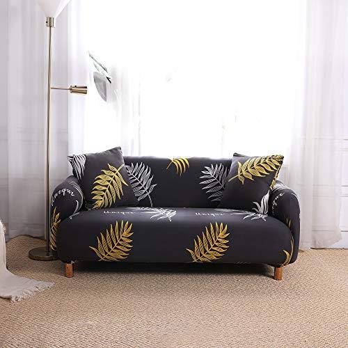 Fodere copridivano 3 posti con 2 Fodere per cuscini Copridivano per divano Elastica Regolabile Stampa Fodere copridivani Divano Protector