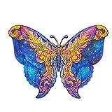 LSEEKA Rompecabezas de Madera - Rompecabezas de Formas únicas para Adultos y niños, Rompecabezas de Animales para Adultos, lo Mejor para la colección de Juegos Familiares(Mariposa,156PCS