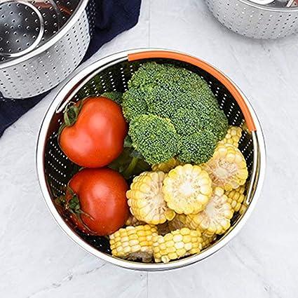 Cestello per Cottura a Vapore per Verdure Mooyod 17.5cm in Acciaio Inox utensile da Cucina