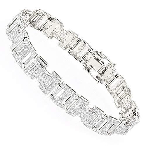 Diamond Bracelet in 10K Gold 3.2ctw (White Gold)
