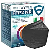 50 Pezzi Mascherine FFP2 Certificate CE Nere,FFP2 Made In Italy A 5 Strati Maschera FPP2 Ad Alta Protezione Respiratori BFE ≥99%