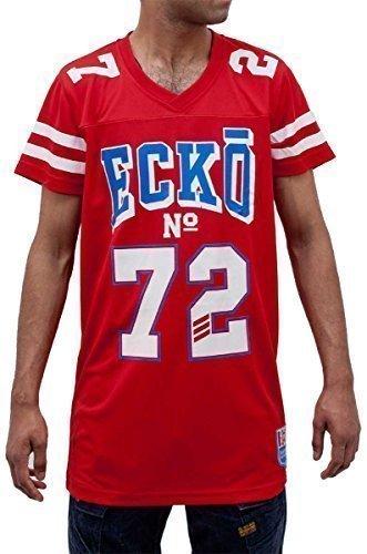 Ecko - T-Shirt Homme Garçon Maillot Football Americain Macabee Star Basketball Time is G Money - M, Rouge