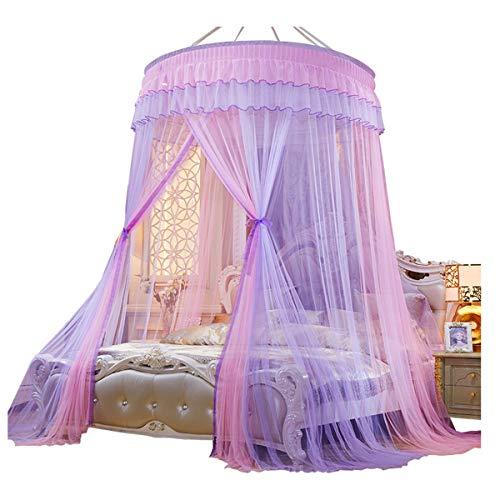 YANGM Mosquito Netto Bed luifel voor Tweepersoonsbed en Eenpersoonsbed Babybedjes Prinses Muggennetto Mug Net Muggennetje Netto Bed Tent met Zelfklevende Haak Zorg ervoor dat Air Flow Pop Up Tent Gordijnen
