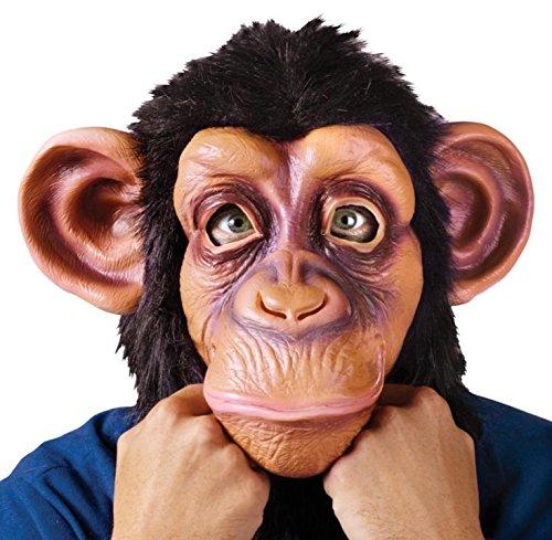 Queenshiny® Latex Tiermaske Halloween-Party-Kostüm (Schimpanse-2)