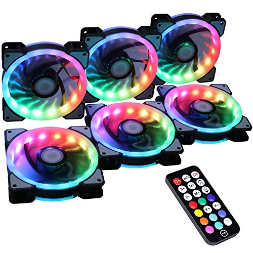 Ubanner Wireless RGB LED 120 mm Ventola per Case con Controller per...