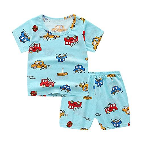 0-5Y Unisex Cartoon T-shirt & Shorts Set niño niño y niñas verano Trajes cómodos