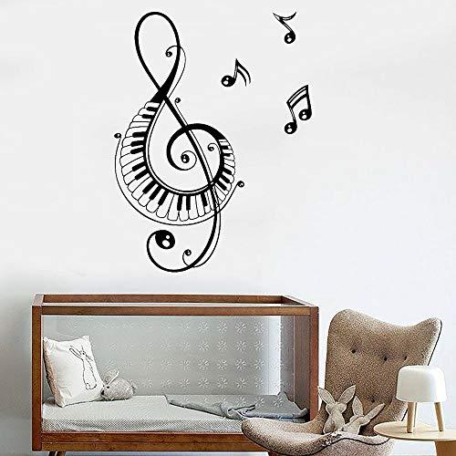 Opprxg Calcomanías de música Que cantan Pegatinas de Pared de Vinilo para el Dormitorio Accesorios de decoración del hogar para la Sala de Estar 42x55 cm