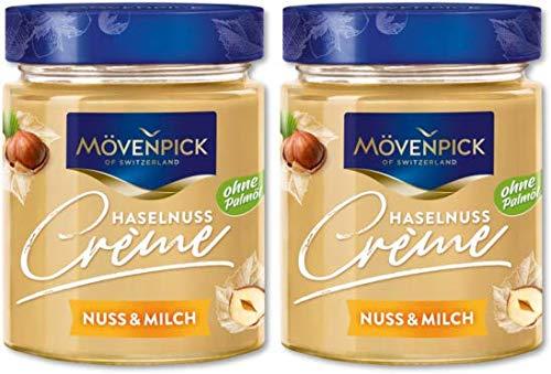 Mövenpick Brotaufstrich Haselnuss Creme Nuss & Milch ohne Palmöl 2x300g