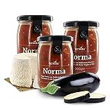 Ursini Salsa de Tomate con bereneja y Queso Ricotta - 260 gr (Paquete de 3 Piezas)