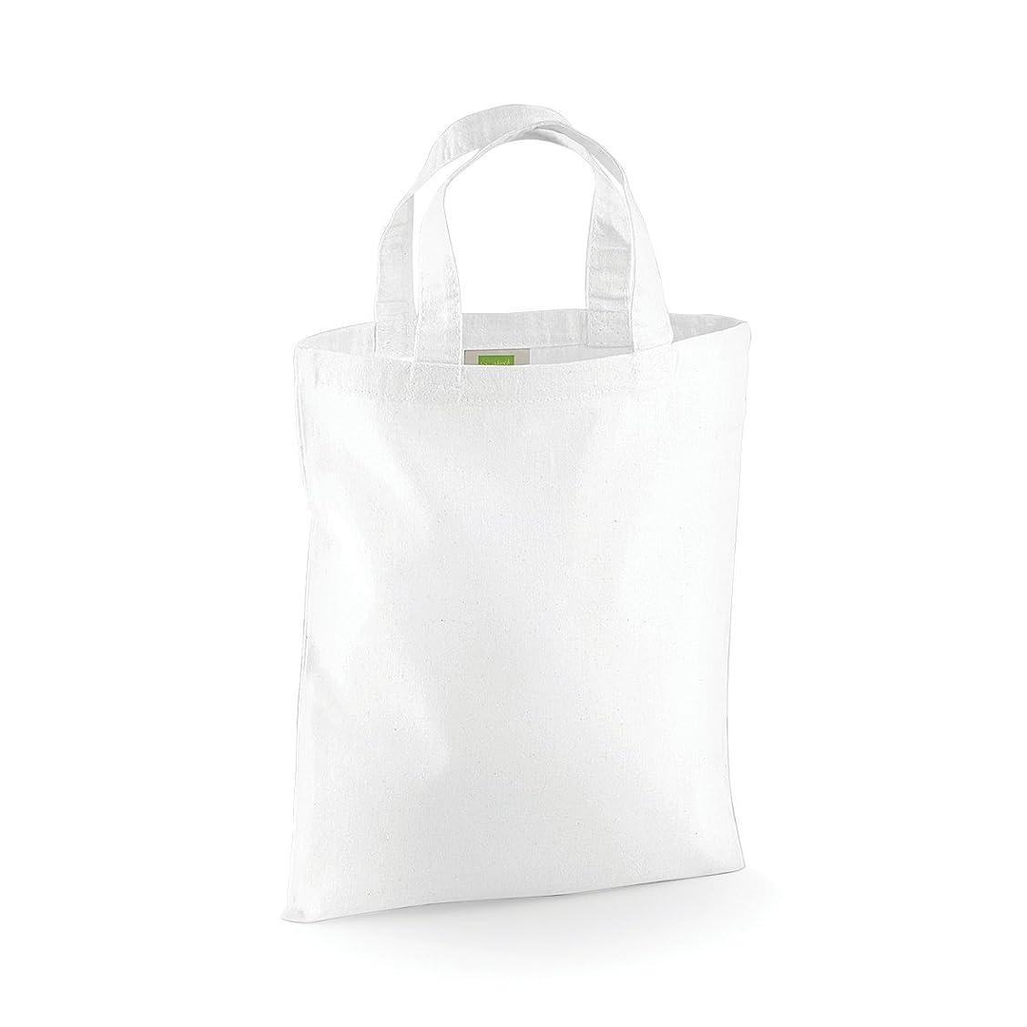 同じ耳コットン(ウエストフォード?ミル) Westford Mill ミニトートバッグ お買い物かばん エコバッグ ショッパーバッグ 4リットル (2パック)