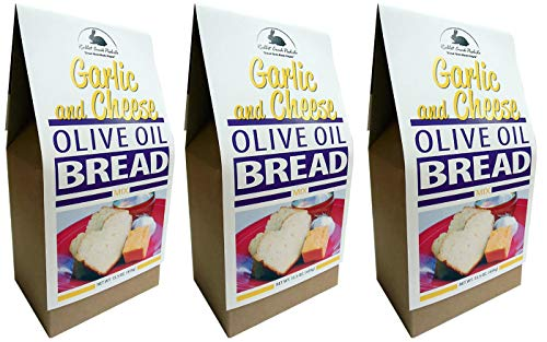 Rabbit Creek Olive Oil Bread Mix Pack of 3 – Garlic & Cheese Bread Mix - Quick and Easy Gourmet Bread Mix