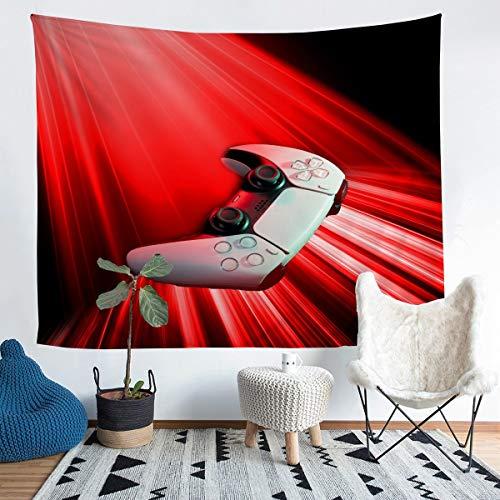 Loussiesd Manta de pared de Gamepad, color rojo, para niñas, niños, videojuegos, para colgar en la pared, decorativa, diseño moderno, controlador de juego, manta mediana de 51 x 59 pulgadas