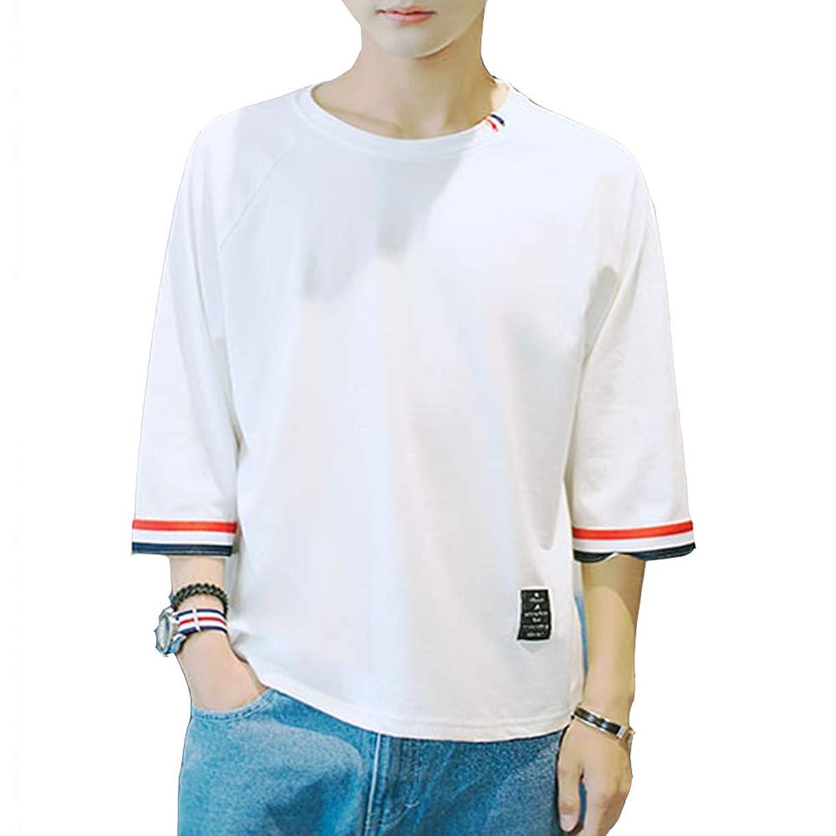 こしょう情報日の出夏服 メンズ Tシャツ 半袖 Tシャツ 五分袖 七分袖 カジュアル ゆったり 日常 快適 シンプル カットソー 吸汗速乾 軽い 柔らかいトップス 大きいサイズ カジュアル 夏季対応