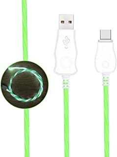 DECVO Lighting Cable 360 Degree Light Up Visible Flowing Liquid LED Type C Charger Cable to USB Syncing and Data Cord Comp...