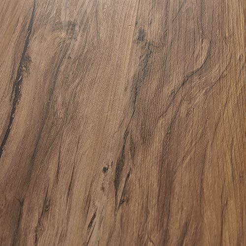 neu.holz Piastrelle Adesive in PVC (28 listoni = 3,92 m²) Laminato Vinilico Fai da Te Pavimentazione Autoadesiva Rivestimento per Spazi Interni - Effetto Quercia 'Classic Warm'
