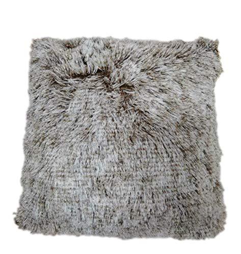 my cat Funda de cojín de felpa suave para decoración del hogar, fundas de almohada para sala de estar, dormitorio, sofá, 43 x 43 cm, color marrón, 43 x 43 cm