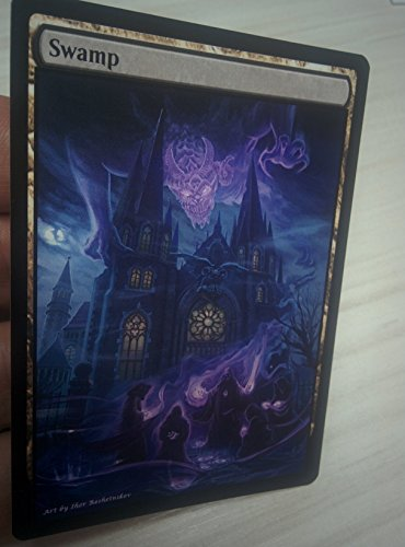 GnD Cards 3X Swamp #5 Extended Textless Full Art Custom Altered Basic Land