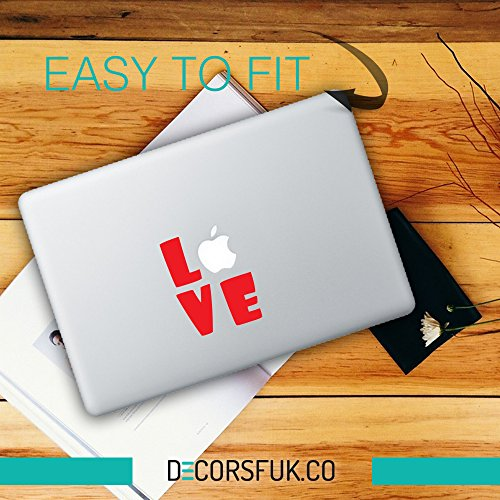 decorsfuk.co Valentinstag MacBook Aufkleber – Farbe/Schwarz Vinyl/Notebook/Laptop Artwork-Design/Love Aufkleber