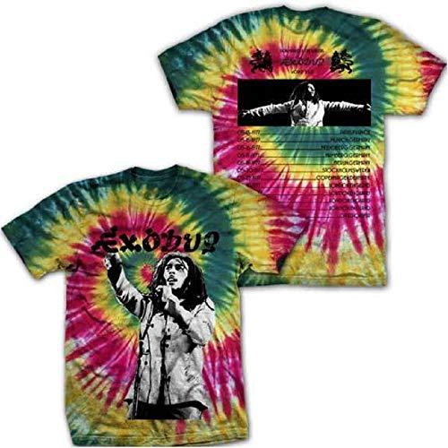 Bob Marley Zion Exodus Live Tour Tie Dye T-Shirt (Small)